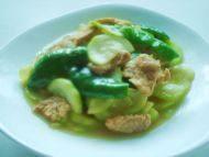 家常菜西葫芦炒肉片
