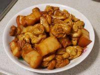 家常菜百叶结烧肉