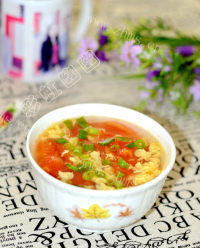 色香味浓的番茄蛋花汤