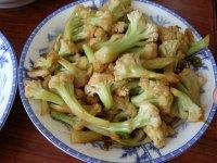家常菜素炒菜花