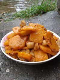 家常菜南瓜炒肉片