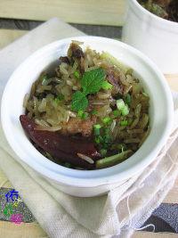 家常菜糯米蒸排骨