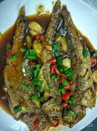 美味的红烧黄鱼