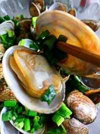 美味的葱油花蛤
