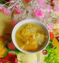 美味的南瓜白菜汤