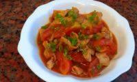 健康的番茄肉片
