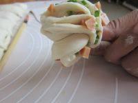 自制火腿葱香花卷
