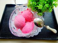 自制火龙果冰淇淋