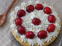 颜值高的樱桃芝士蛋糕
