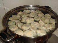 自己做的鲜虾水饺
