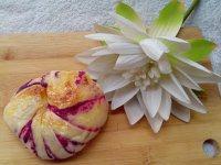 健康美食之紫薯面包卷