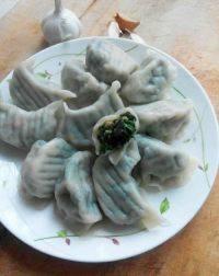 美味晚餐韭菜猪肉水饺