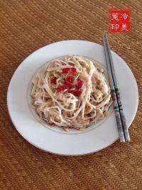 家常菜凉拌金针菇