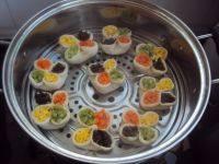 自己做的四喜蒸饺