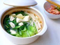 颜值高的青菜豆腐汤