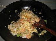 自己做的虾仁鸡蛋炒饭
