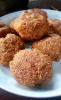美味的香菇豆腐丸子
