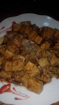 家常菜肉末豆腐
