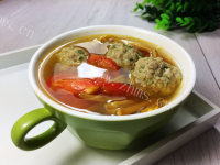 口感不错的西红柿丸子汤