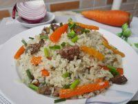 自己做的新疆牛肉抓饭