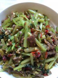 家常菜泡椒牛肉