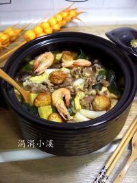 美味的什锦暖锅