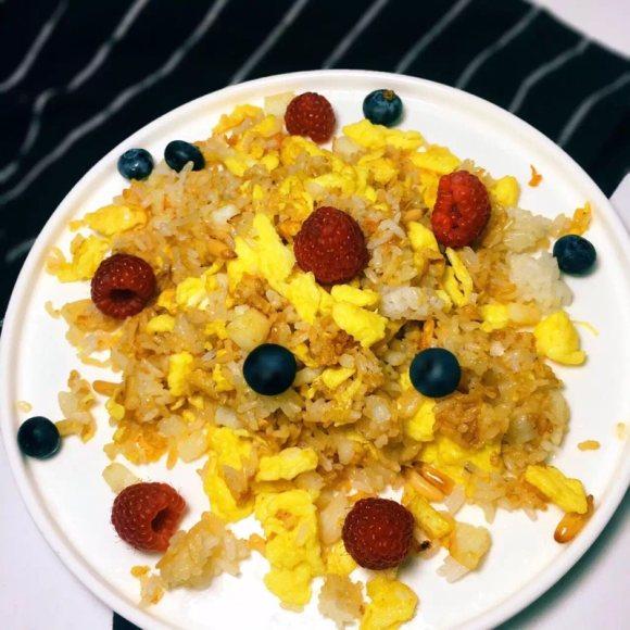 鸡蛋鳕鱼松子饭