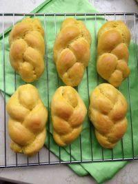 诱人的辫子面包