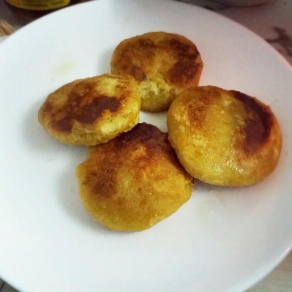 芳香四溢的红薯饼