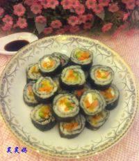 外婆教我做寿司卷