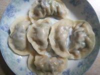 自己做的木耳猪肉饺子
