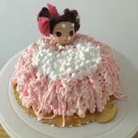 自制芭比蛋糕