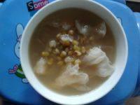 自己做的银耳绿豆汤