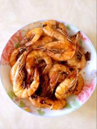 美味的辣炒大虾