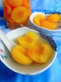 秀色的糖水黄桃