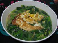 [懒人美食]菠菜汤