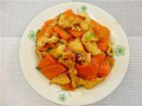 家常菜胡萝卜炒鸡肉