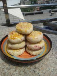 自制芝麻紫薯饼