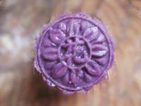 自己做的紫薯豆沙糕