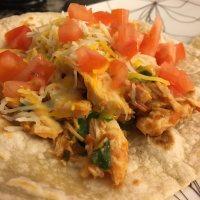 美味的墨西哥鸡肉卷