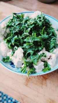 家常菜香椿芽拌豆腐