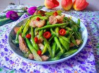家常菜肉片炒四季豆