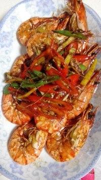 美味的椒盐虾