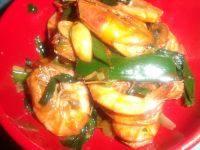 美味的葱爆虾