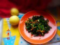 简单的凉拌芹菜叶