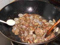 美味的香辣花蛤