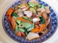 营养丰富的杏鲍菇炒肉