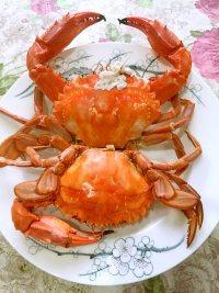 美味的蒸蟹