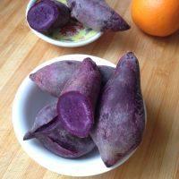 自制蒸紫薯