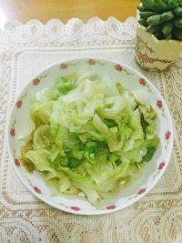 家常菜清炒西生菜